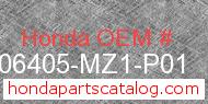 Honda 06405-MZ1-P01 genuine part number image