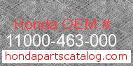 Honda 11000-463-000 genuine part number image