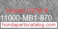Honda 11000-MB1-870 genuine part number image