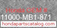Honda 11000-MB1-871 genuine part number image