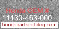 Honda 11130-463-000 genuine part number image