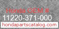Honda 11220-371-000 genuine part number image
