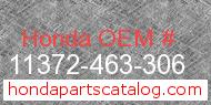 Honda 11372-463-306 genuine part number image