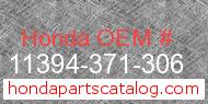 Honda 11394-371-306 genuine part number image