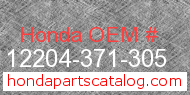 Honda 12204-371-305 genuine part number image