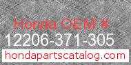 Honda 12206-371-305 genuine part number image