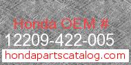 Honda 12209-422-005 genuine part number image