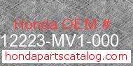Honda 12223-MV1-000 genuine part number image