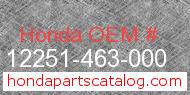 Honda 12251-463-000 genuine part number image