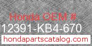 Honda 12391-KB4-670 genuine part number image