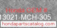 Honda 13021-MCH-305 genuine part number image