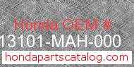 Honda 13101-MAH-000 genuine part number image