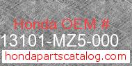 Honda 13101-MZ5-000 genuine part number image