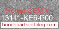 Honda 13111-KE6-P00 genuine part number image