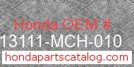 Honda 13111-MCH-010 genuine part number image