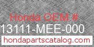 Honda 13111-MEE-000 genuine part number image