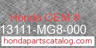 Honda 13111-MG8-000 genuine part number image