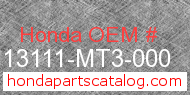 Honda 13111-MT3-000 genuine part number image