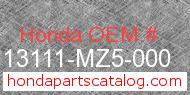 Honda 13111-MZ5-000 genuine part number image