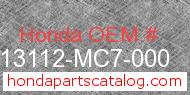 Honda 13112-MC7-000 genuine part number image