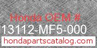 Honda 13112-MF5-000 genuine part number image