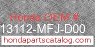 Honda 13112-MFJ-D00 genuine part number image