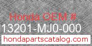 Honda 13201-MJ0-000 genuine part number image