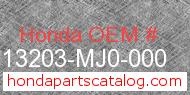 Honda 13203-MJ0-000 genuine part number image