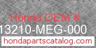 Honda 13210-MEG-000 genuine part number image