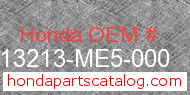Honda 13213-ME5-000 genuine part number image