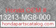 Honda 13213-MG8-000 genuine part number image