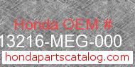 Honda 13216-MEG-000 genuine part number image