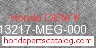 Honda 13217-MEG-000 genuine part number image
