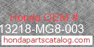 Honda 13218-MG8-003 genuine part number image