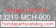 Honda 13219-MCH-000 genuine part number image