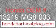 Honda 13219-MG8-003 genuine part number image
