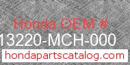 Honda 13220-MCH-000 genuine part number image
