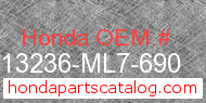 Honda 13236-ML7-690 genuine part number image
