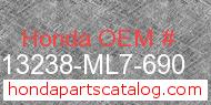 Honda 13238-ML7-690 genuine part number image