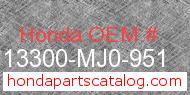 Honda 13300-MJ0-951 genuine part number image
