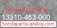 Honda 13310-463-000 genuine part number image