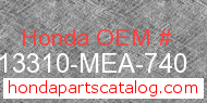Honda 13310-MEA-740 genuine part number image