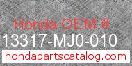 Honda 13317-MJ0-010 genuine part number image