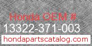Honda 13322-371-003 genuine part number image