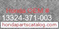 Honda 13324-371-003 genuine part number image