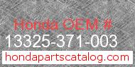 Honda 13325-371-003 genuine part number image