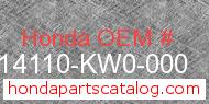 Honda 14110-KW0-000 genuine part number image