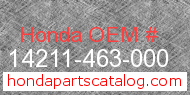 Honda 14211-463-000 genuine part number image