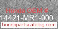 Honda 14421-MR1-000 genuine part number image