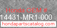Honda 14431-MR1-000 genuine part number image